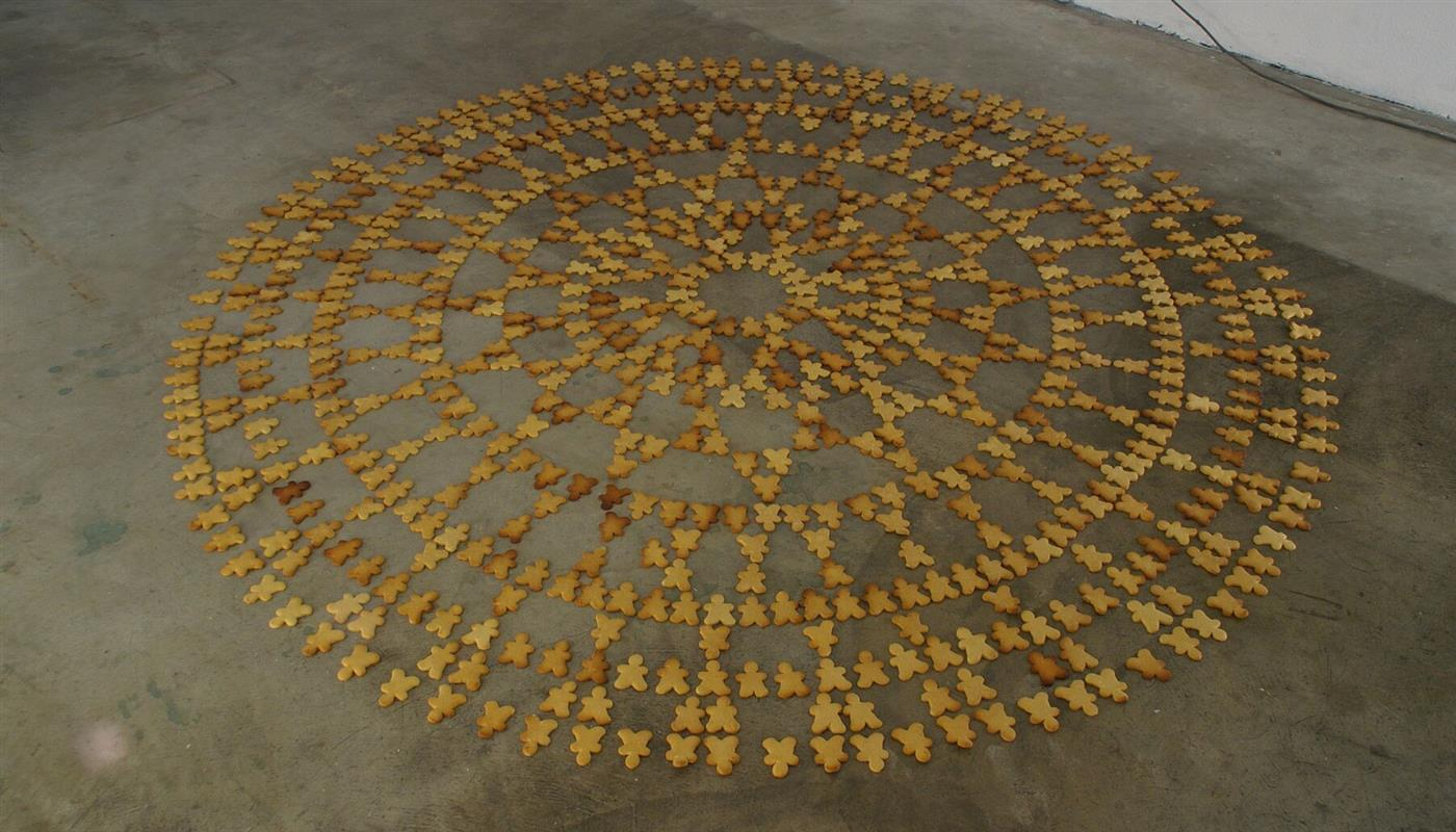 Gingerbread Mandala 2010 by Newcastle Installation Artist, Ruth Feeney